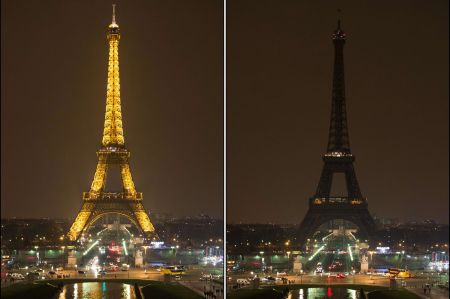 Earth Hour - The Eiffel Tower, Paris-1781804