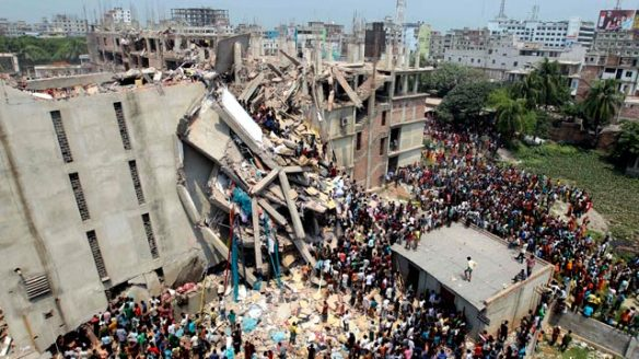 Eight-story building collapses in Dhaka, Bangladesh