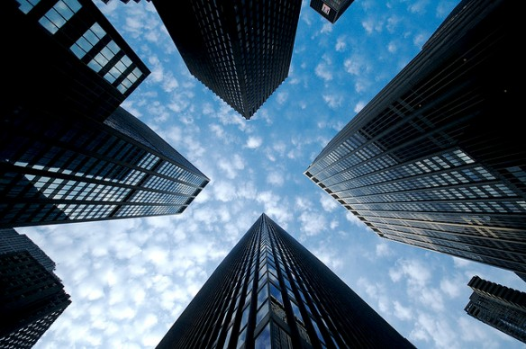 skyscrapers-looking-up-sunny-flickr