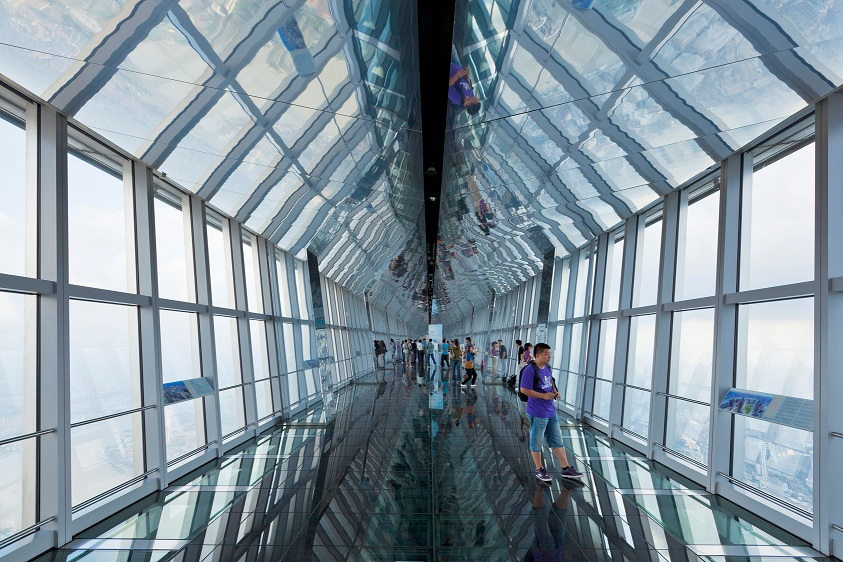 Where are the world s 10 highest public observation decks for Glass deck floor