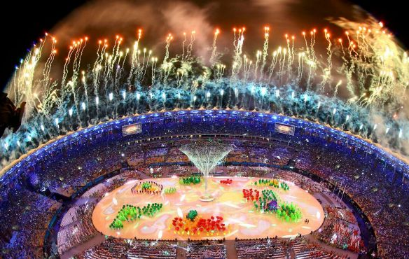 Fireworks-explode-during-the-closing-ceremony